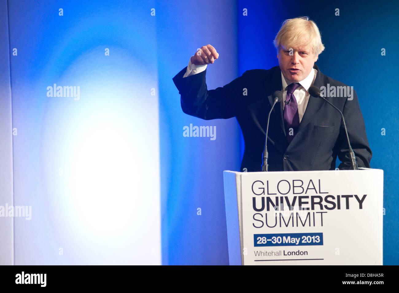 Londra, Regno Unito. Il 29 maggio 2013. Sindaco di Londra Boris Johnson parla di business-leader, alti rappresentanti Immagini Stock