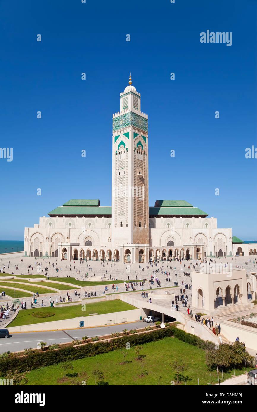 Moschea Hassan II, il terzo più grande moschea del mondo, Casablanca, Marocco, Africa del Nord Immagini Stock