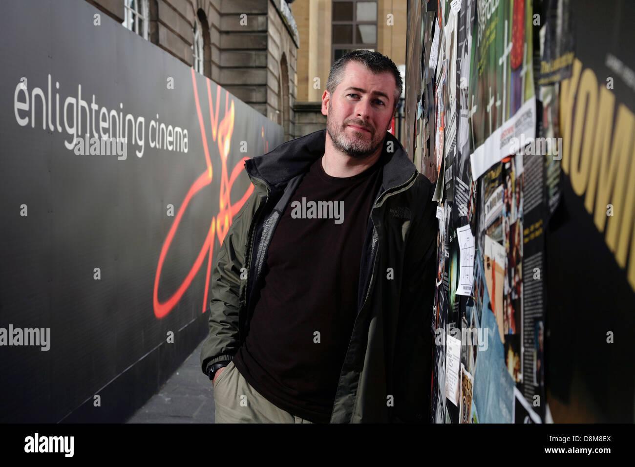 Scottish documentarista Nick Higgins Immagini Stock