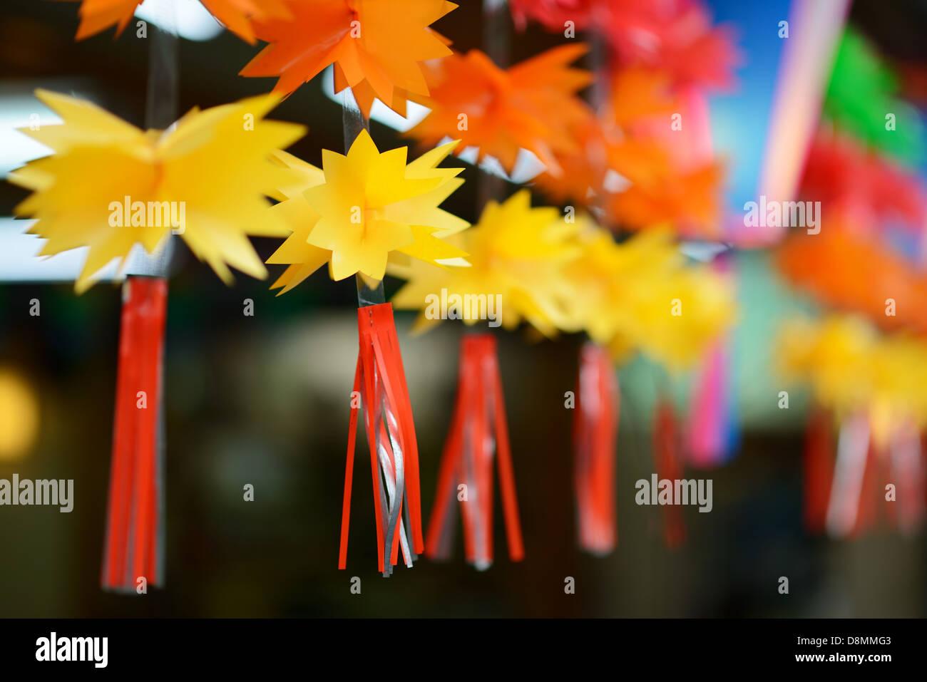 Fresare decorative appese a Narita, in Giappone Immagini Stock