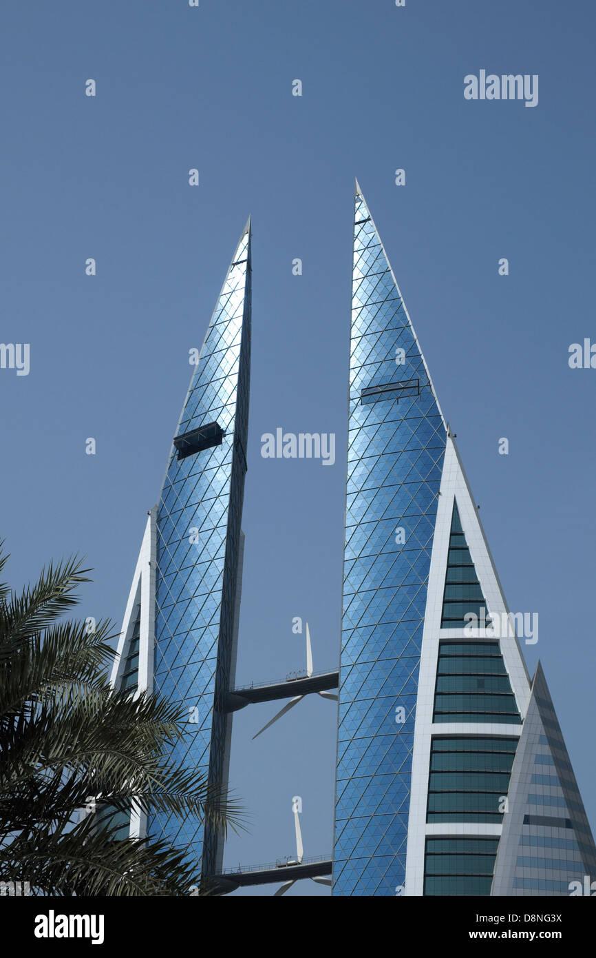 World Trade Center Complex, Manama, Regno del Bahrein, Golfo Persico Immagini Stock