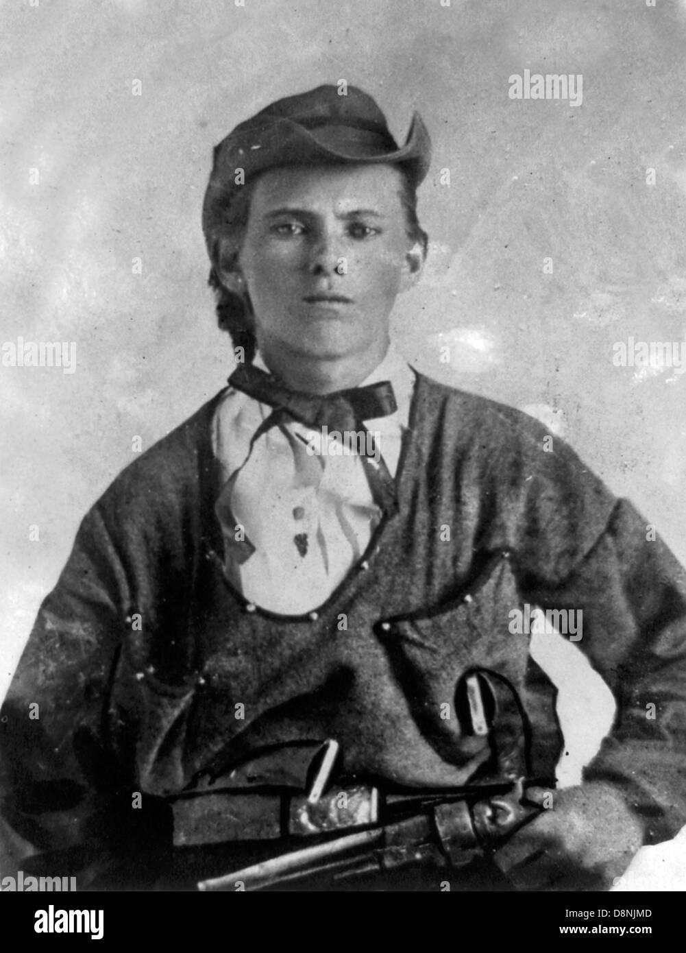Jesse James come un giovane uomo Immagini Stock