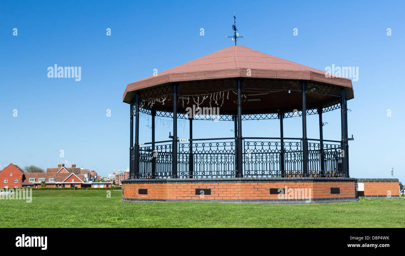 Trattare Memorial Bandstand Walmer Kent England Regno Unito Immagini Stock