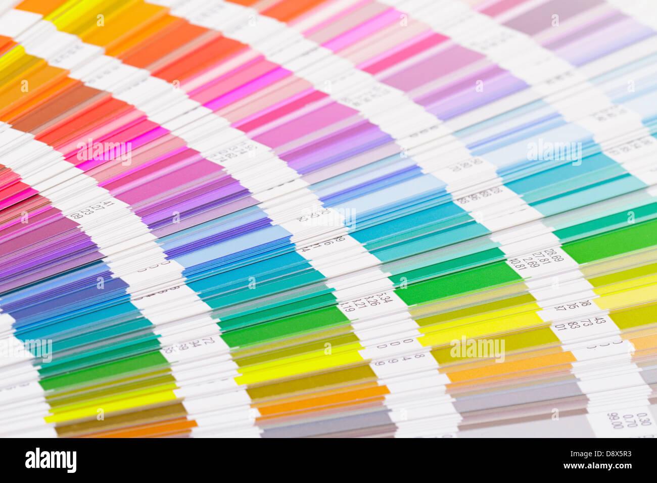 Aprire la guida di colore scheme, primo piano Immagini Stock