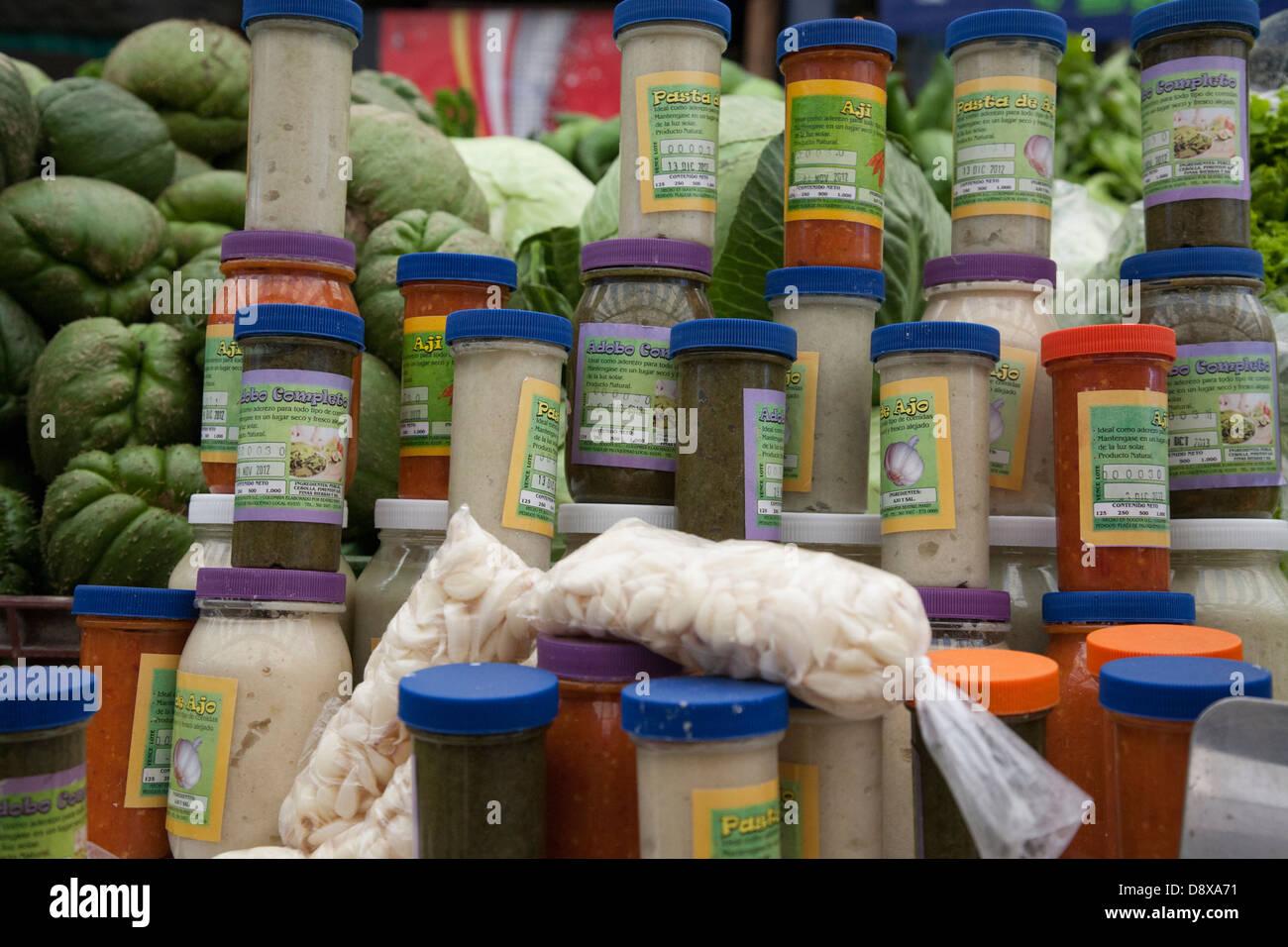Paloquemao mercato alimentare, Bogotà, Colombia Immagini Stock