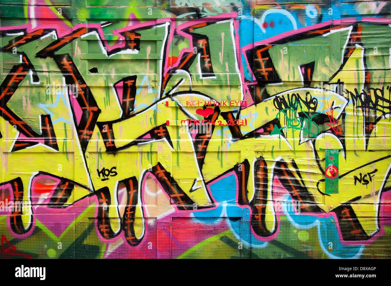Graffiti vicolo in Baltimore, Maryland, Stati Uniti d'America Immagini Stock