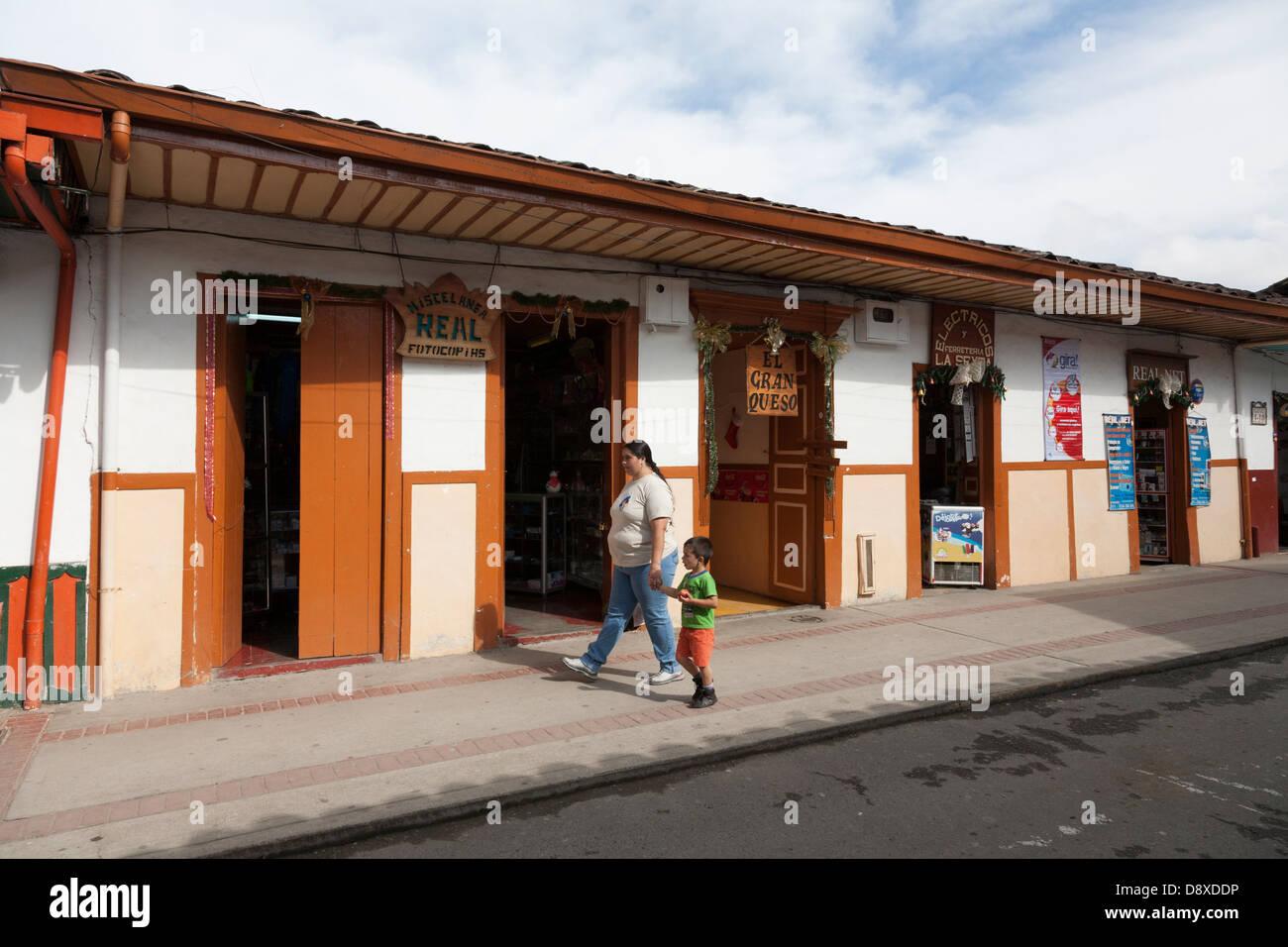 Il Salento, Cocora Valley, Colombia Immagini Stock