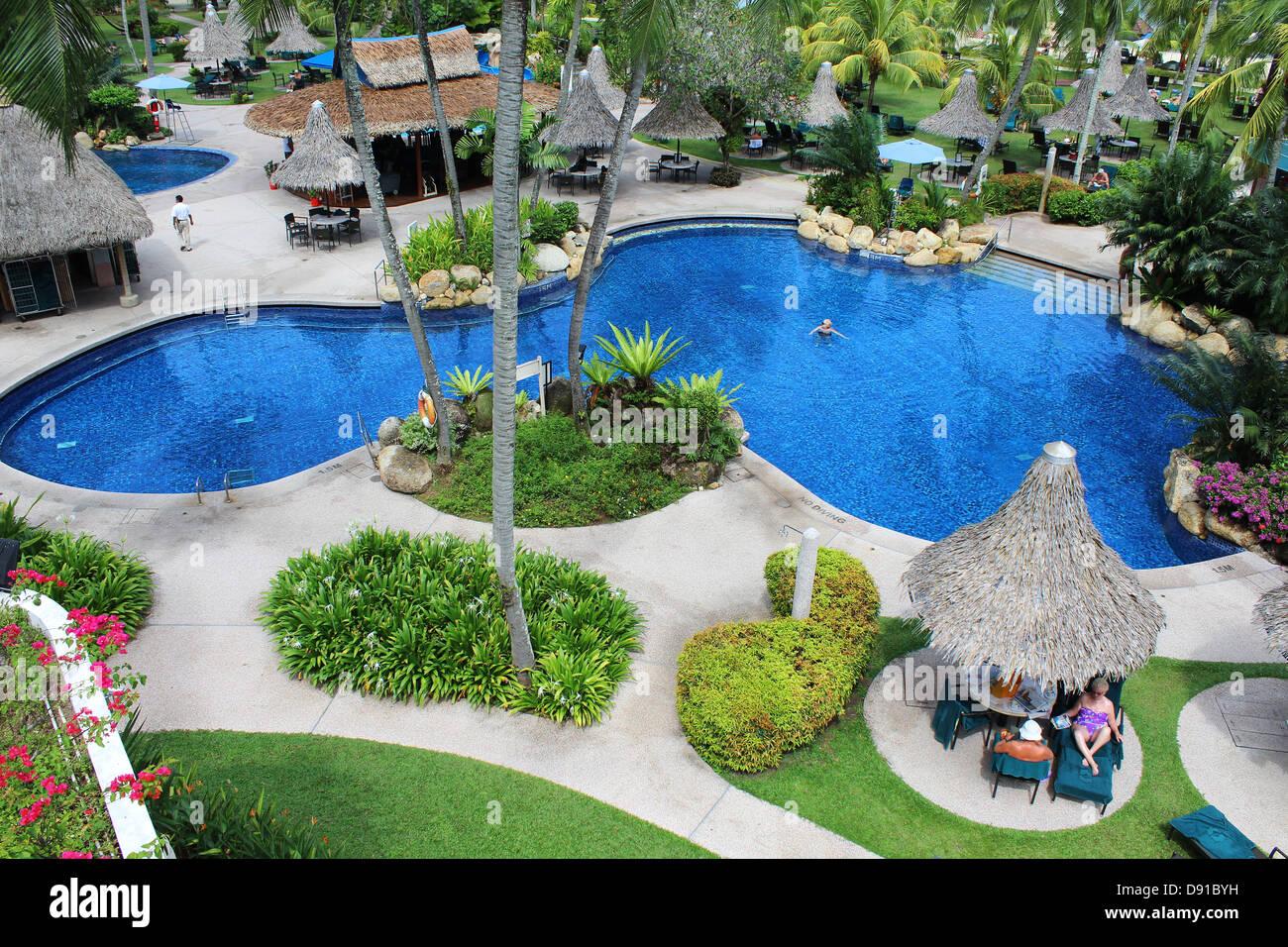 Golden Sands Resort piscina da Shangri-La, Penang, Malaysia Immagini Stock