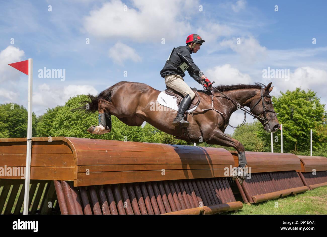 Mathew Heath a Lismore Lad - Houghton International Horse Trials 2013 Immagini Stock