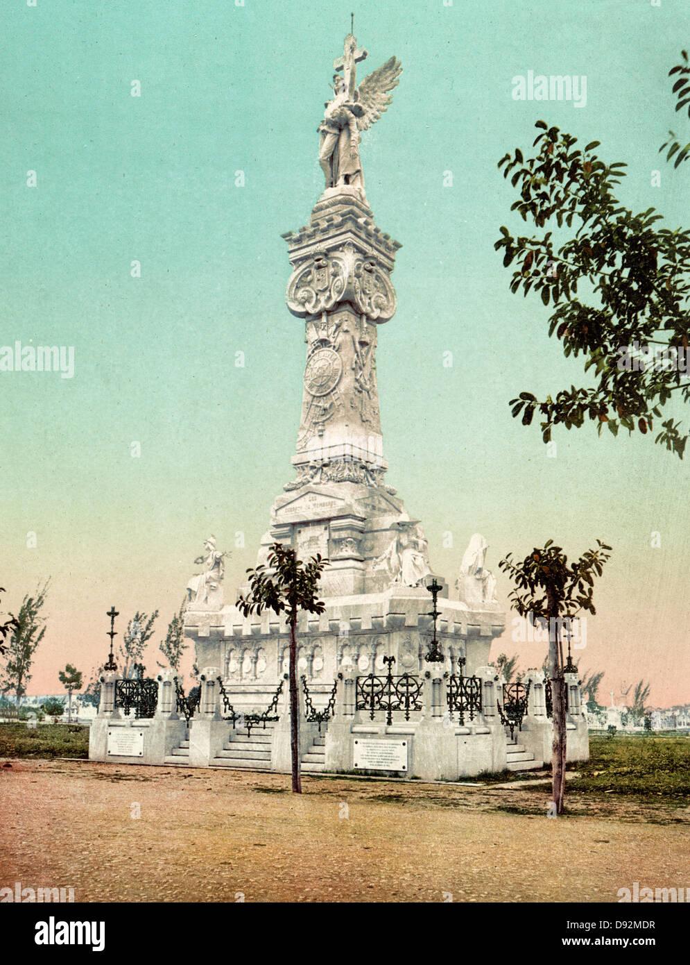 Monumento a los Bomberos, Habana - vigile del fuoco è un monumento, Havanna Cuba, circa 1900 Immagini Stock