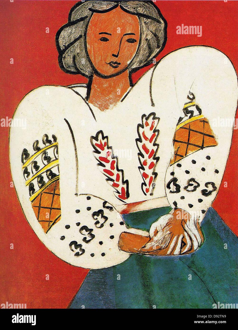 Henri Matisse La camicetta roumaine 1940 Centro Georges Pompidou - Parigi Immagini Stock