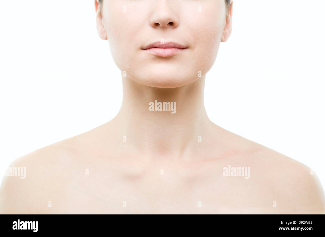 Inquadratura Simmetrica Di Donna Di Spalle E Testa Foto Immagine