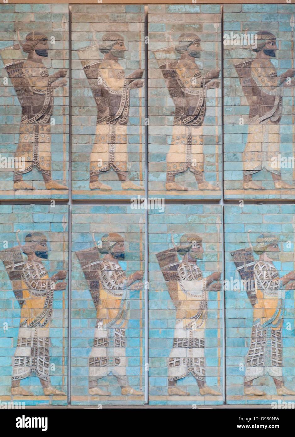 Arcieri, fregio di arcieri periodo Achemenide, regno di Dario il primo 510 prima di J-C Immagini Stock