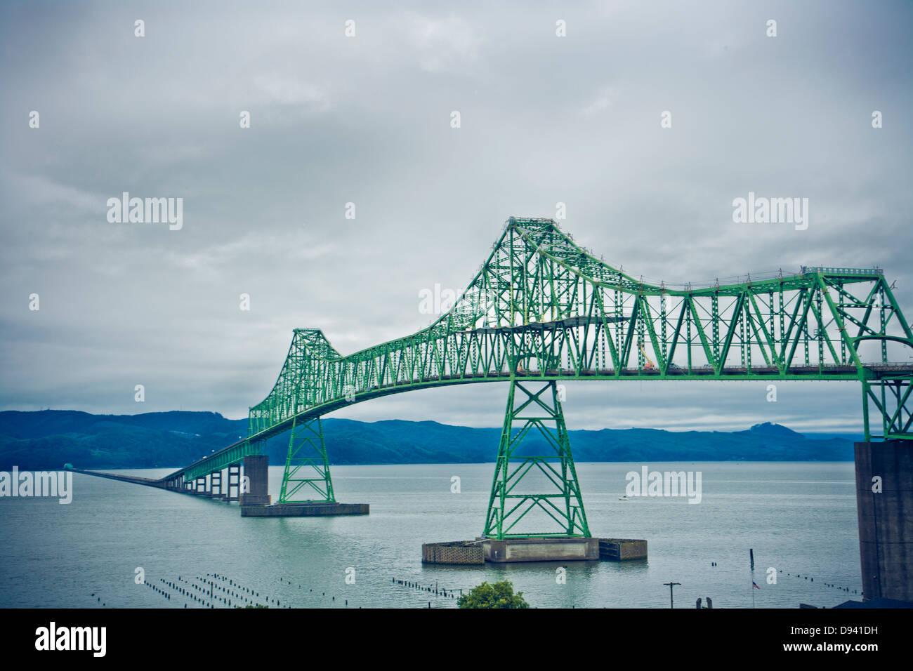 Dettagli del metallo ponti strutturato in Portland Immagini Stock