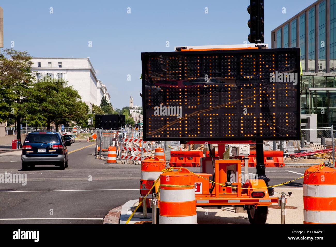Attenzione lavori in corso segno - USA Immagini Stock