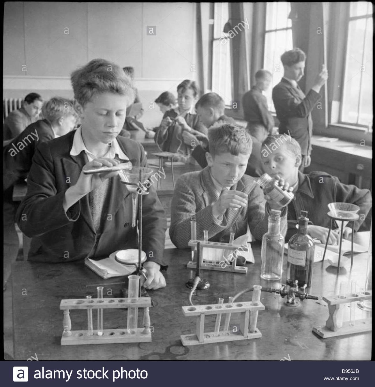 La scuola del paese - La vita quotidiana a Baldock County Council Scuola, Baldock Hertfordshire, Inghilterra UK, Immagini Stock