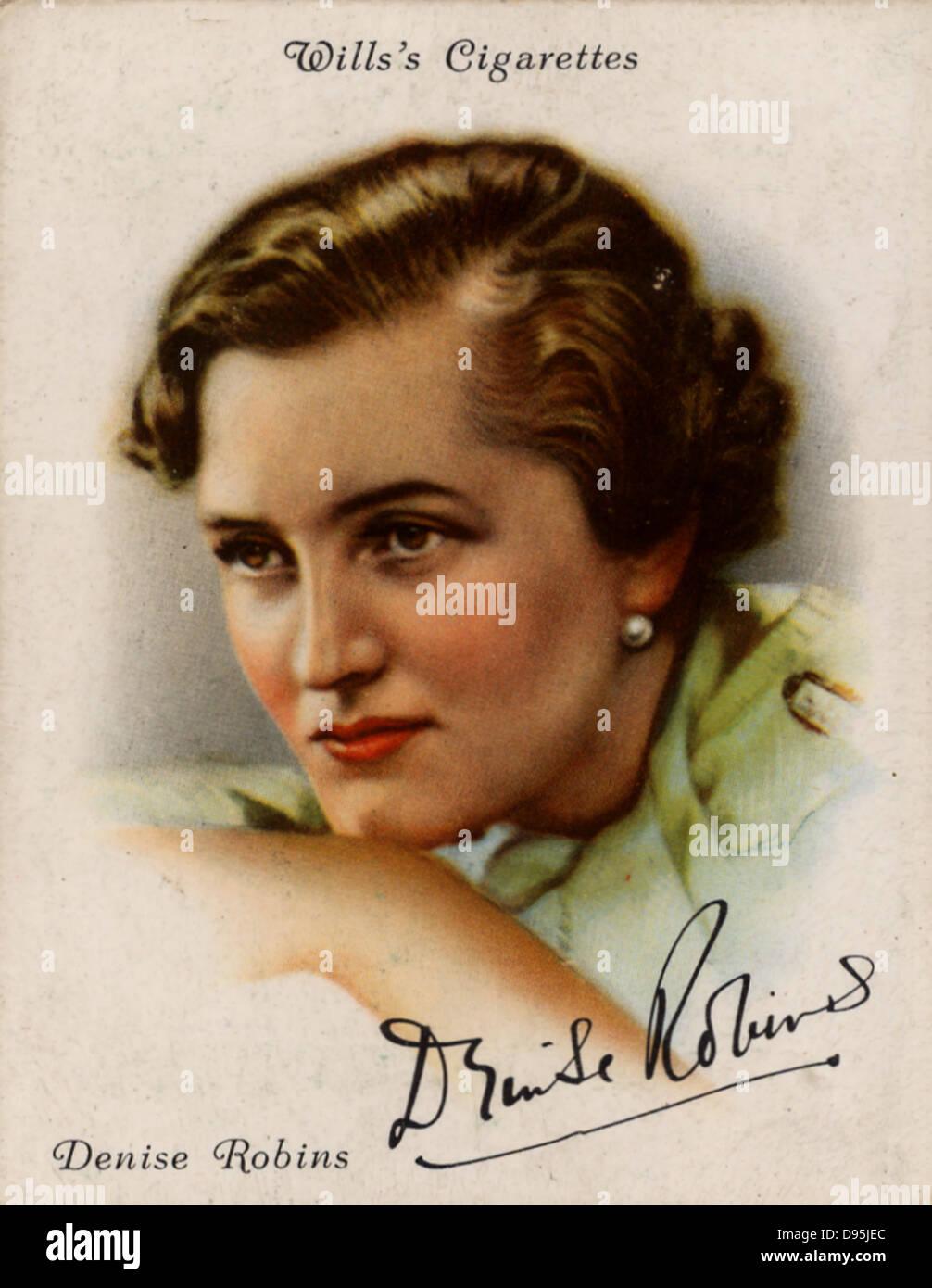 Denise Robins (1897-1985) British famoso romanziere, drammaturgo e breve storia scrittore. Da una serie di carte Immagini Stock