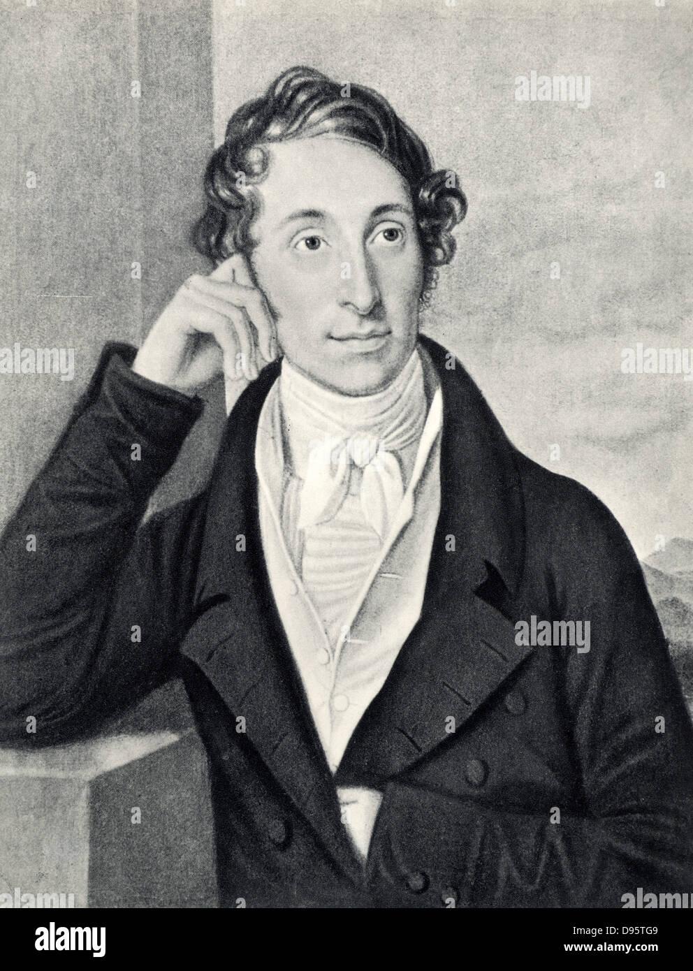 Carl Maria von Weber (1786-1826) del compositore tedesco, direttore e pianista. Foto Stock