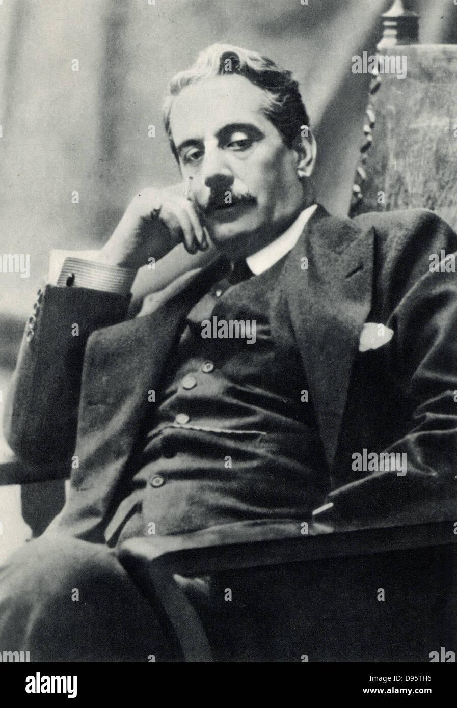 Giacomo Puccini (1858-1924) nel 1910. Compositore italiano, principalmente di opera. Dopo una fotografia. Immagini Stock