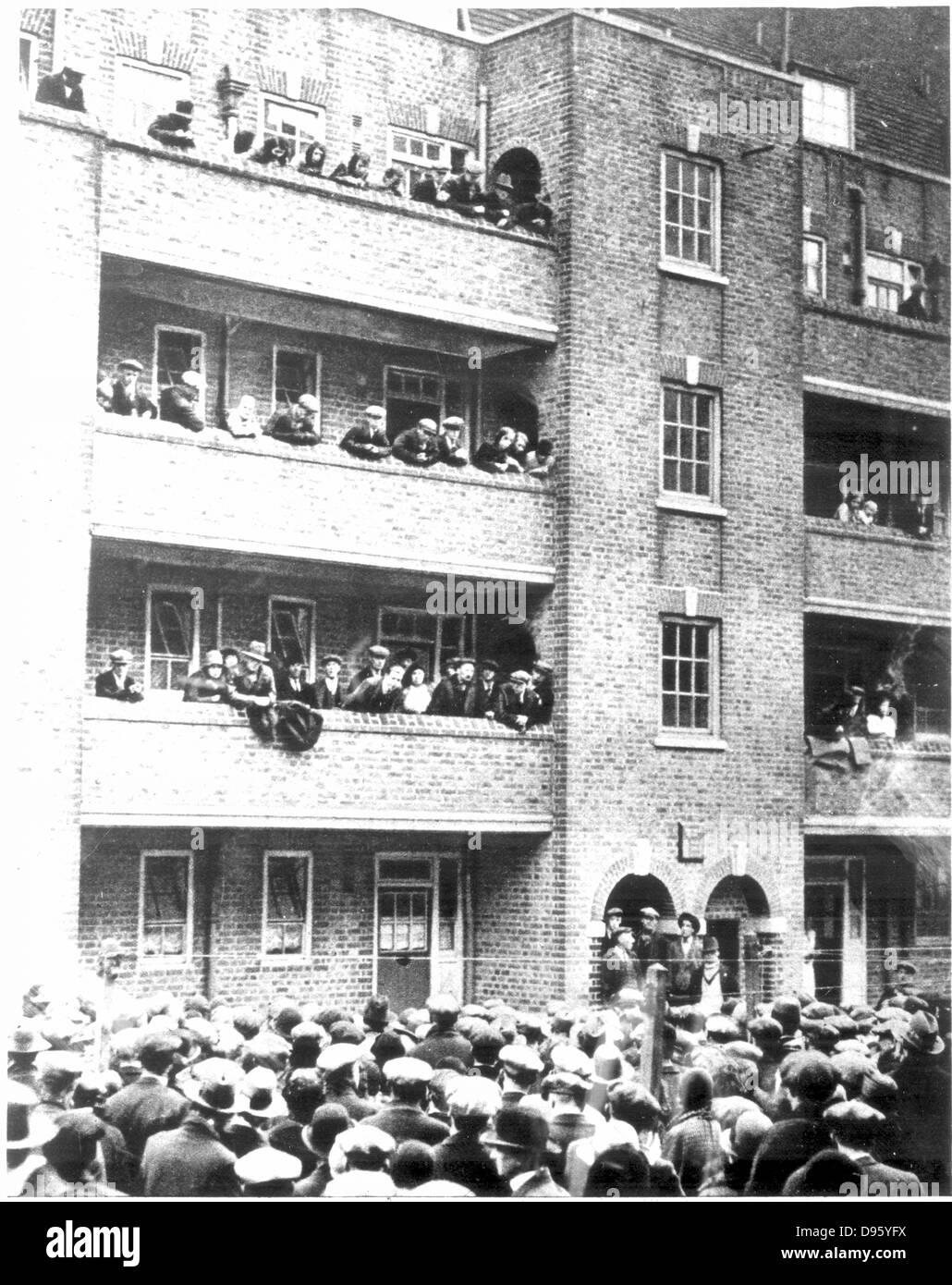 Difficoltà durante la Gran Bretagna è grande depressione 1929-1936. Scene in Peckham, Londra, 1931, quando Immagini Stock