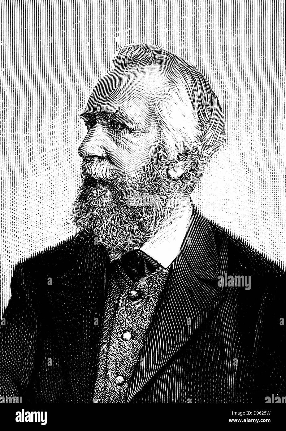 """Ernst Haeckel (1834-1919) uno zoologo tedesco ed evoluzionista. Ricapitolazione teoria """"ontologia ricapitola Immagini Stock"""