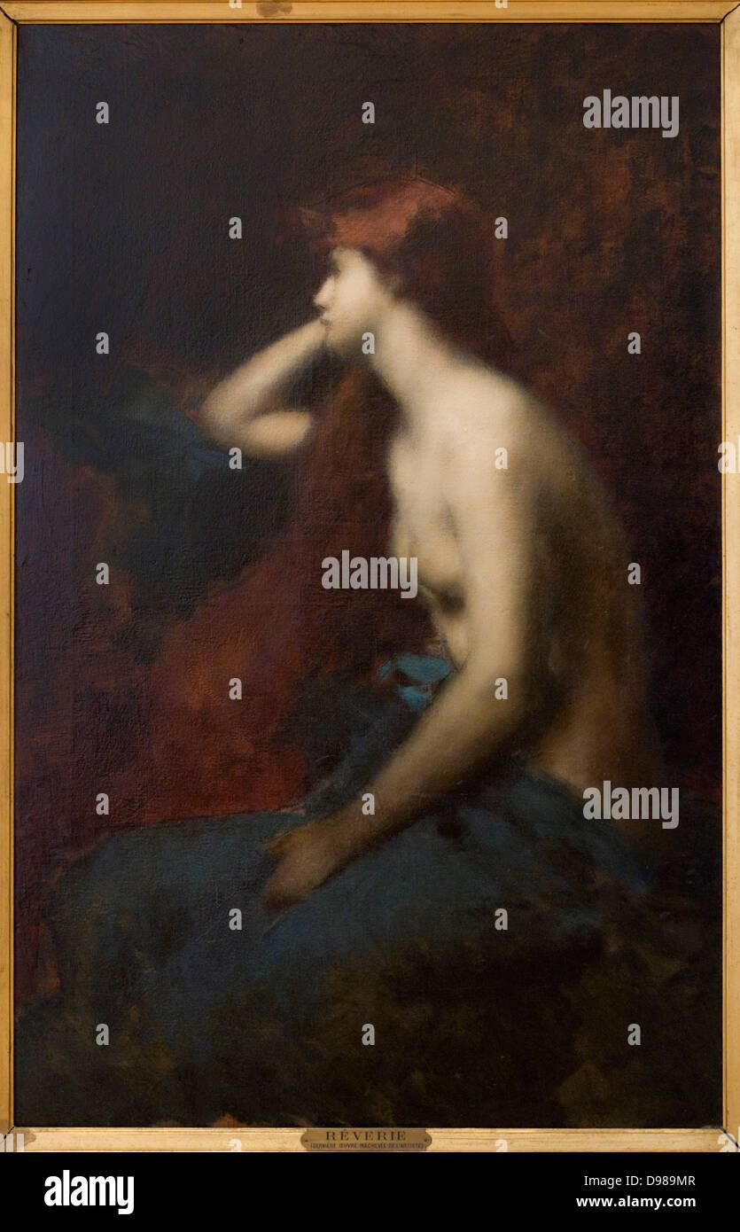 Jean-Jacques Hennerici Reverie 1904 olio su tela Petit Palais Museum - Parigi Immagini Stock