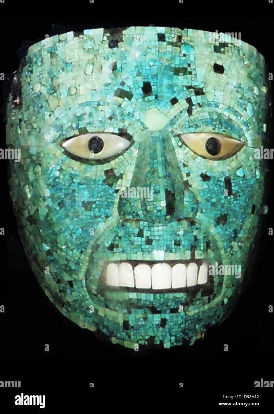 Mosaico turchese maschera 1400-1521 ANNUNCIO Immagini Stock
