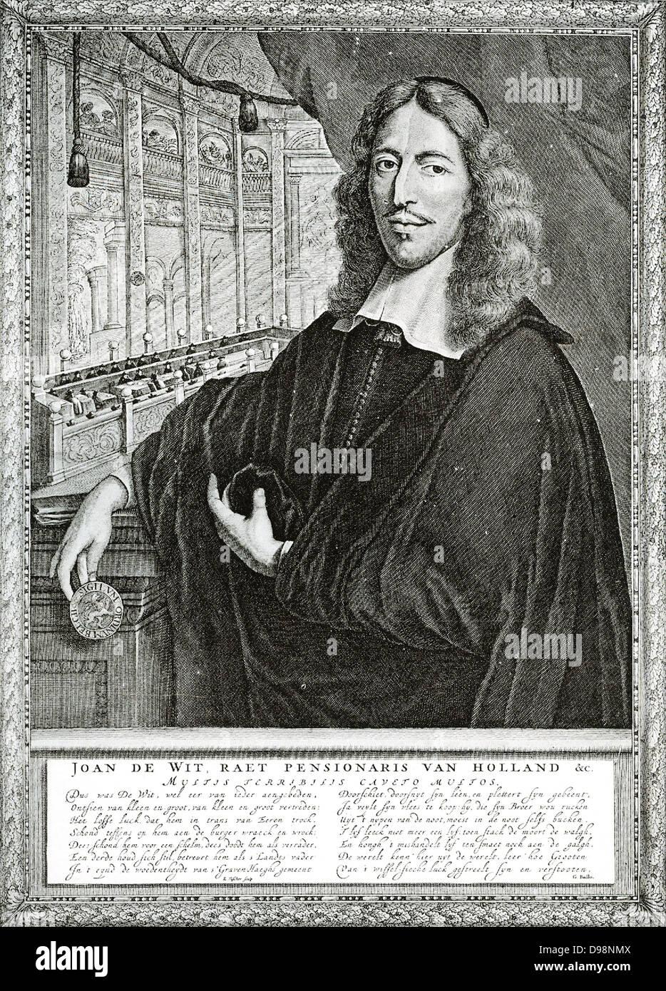 Johan De Witt, uno statista di rara doni. Per quasi venti anni era il capo degli Affari Esteri Olandese Immagini Stock