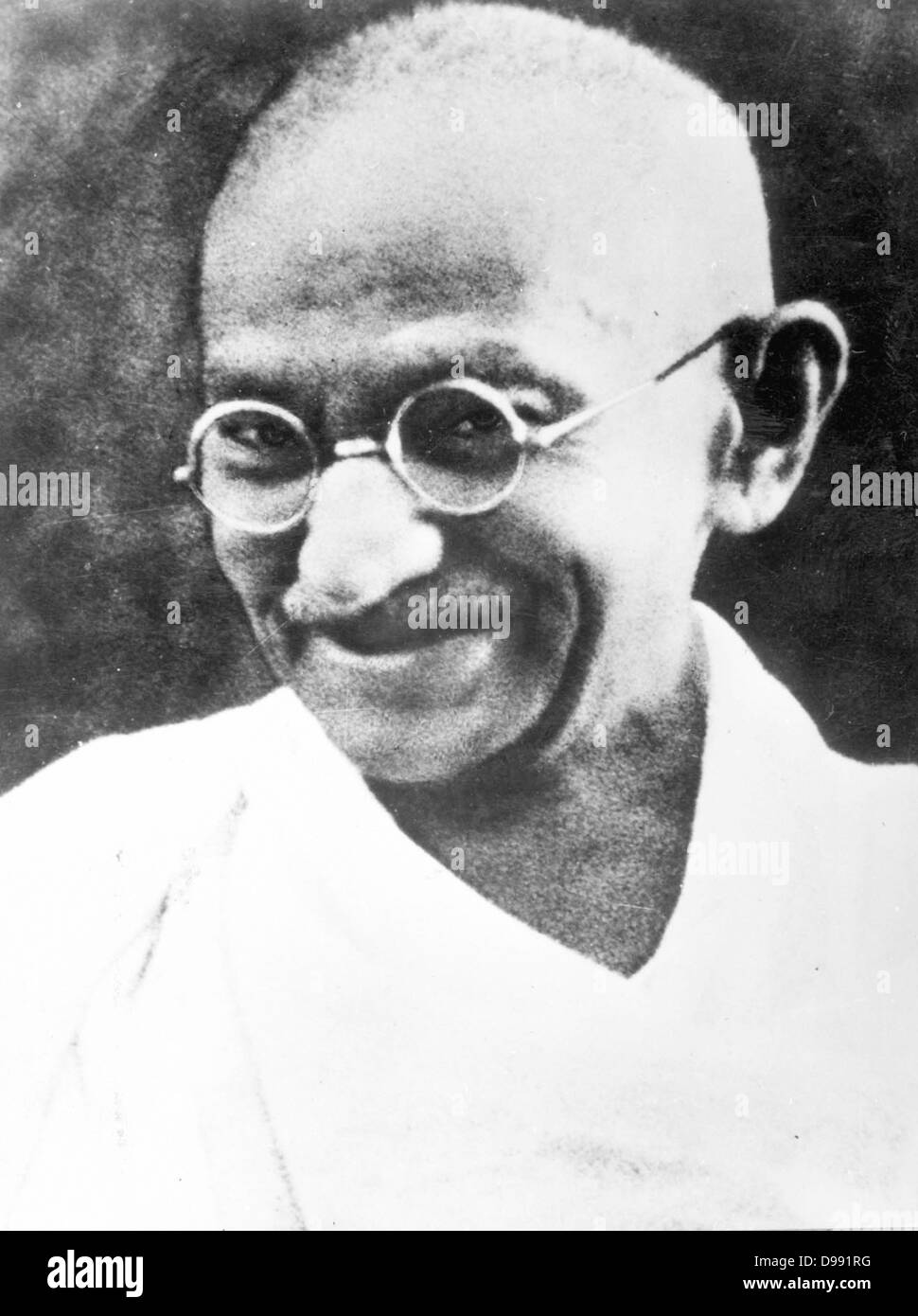 Il Mahatma Gandhi circa 1930. Mohandas Karamchand Gandhi (2 ottobre 1869 - 30 gennaio 1948). La maggior parte prominente Immagini Stock
