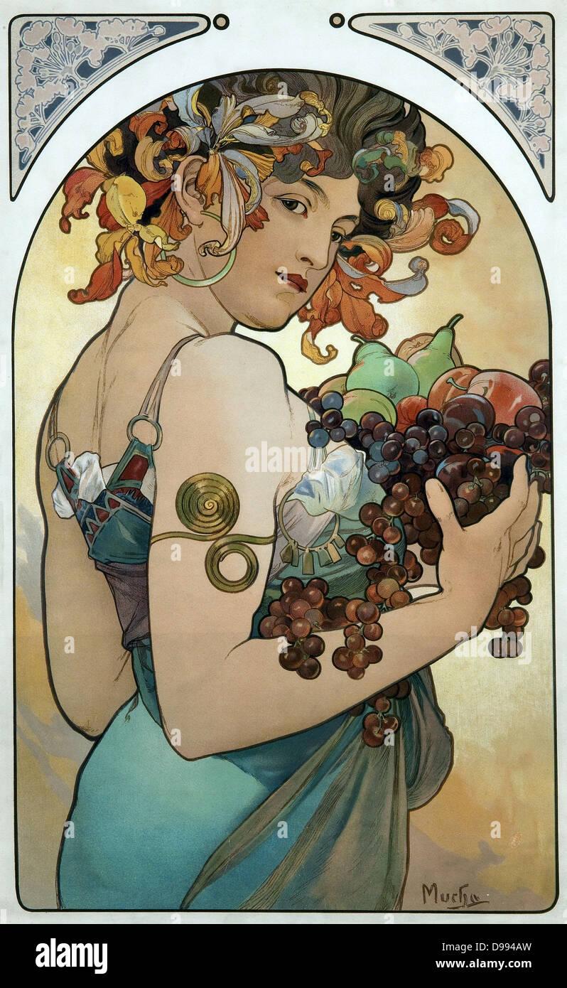 Mucha poster 1894. Alphonse Mucha,[(24 Luglio 1860 - 14 luglio 1939), ceco di Art Nouveau pittore e decoratore, Immagini Stock