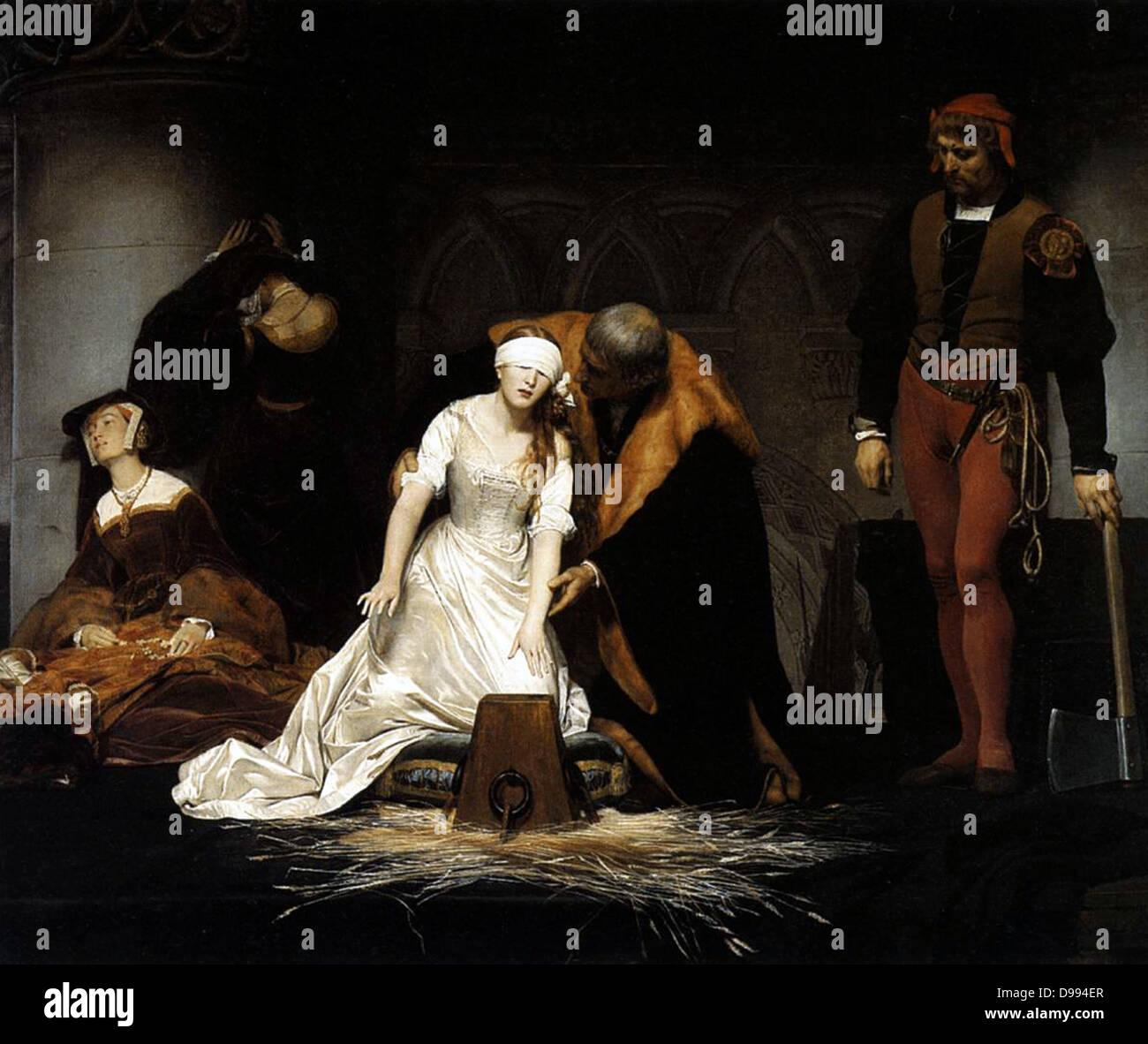 Paolo Delaroche l esecuzione di Lady Jane Gray, 1833 Immagini Stock
