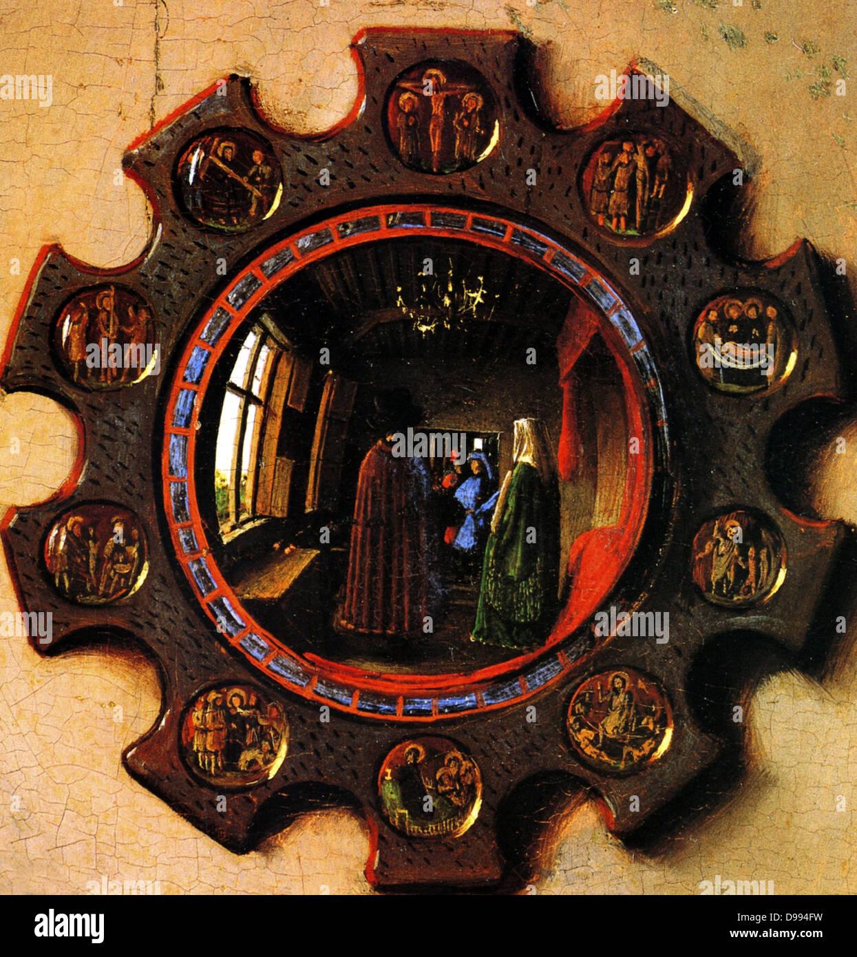 Jan van Eyck o Johannes de Eyck c. 1395 - 1441), pittore fiammingo attivo a Bruges e considerato uno dei migliori Immagini Stock