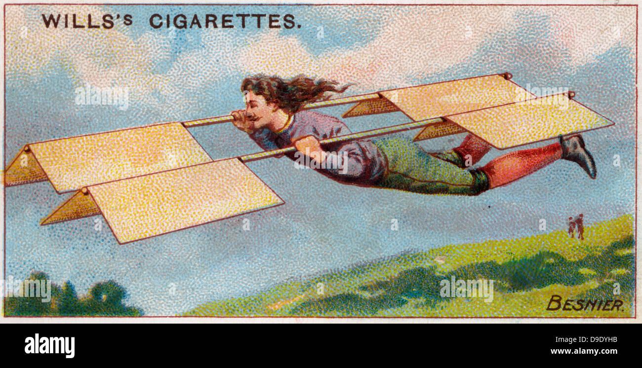 Aviazione, 1910: francese fabbro Besnier il tentativo di volo, 1678. Immagini Stock