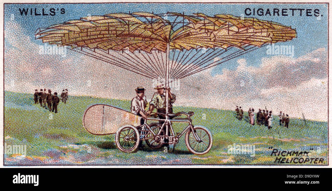 Aviazione, 1910: Rickman elicottero, 1909. Immagini Stock