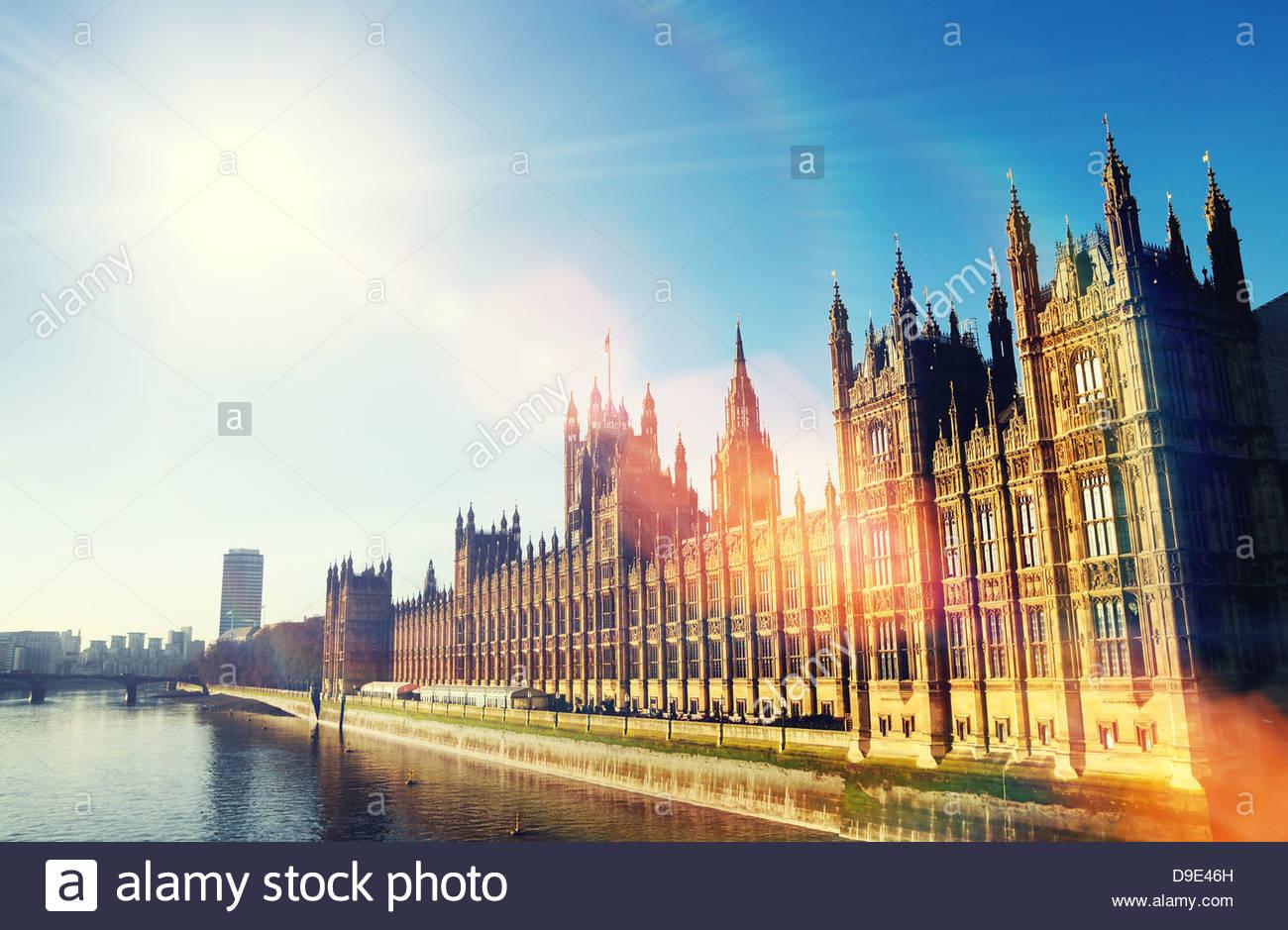Sunshine il parlamento Immagini Stock