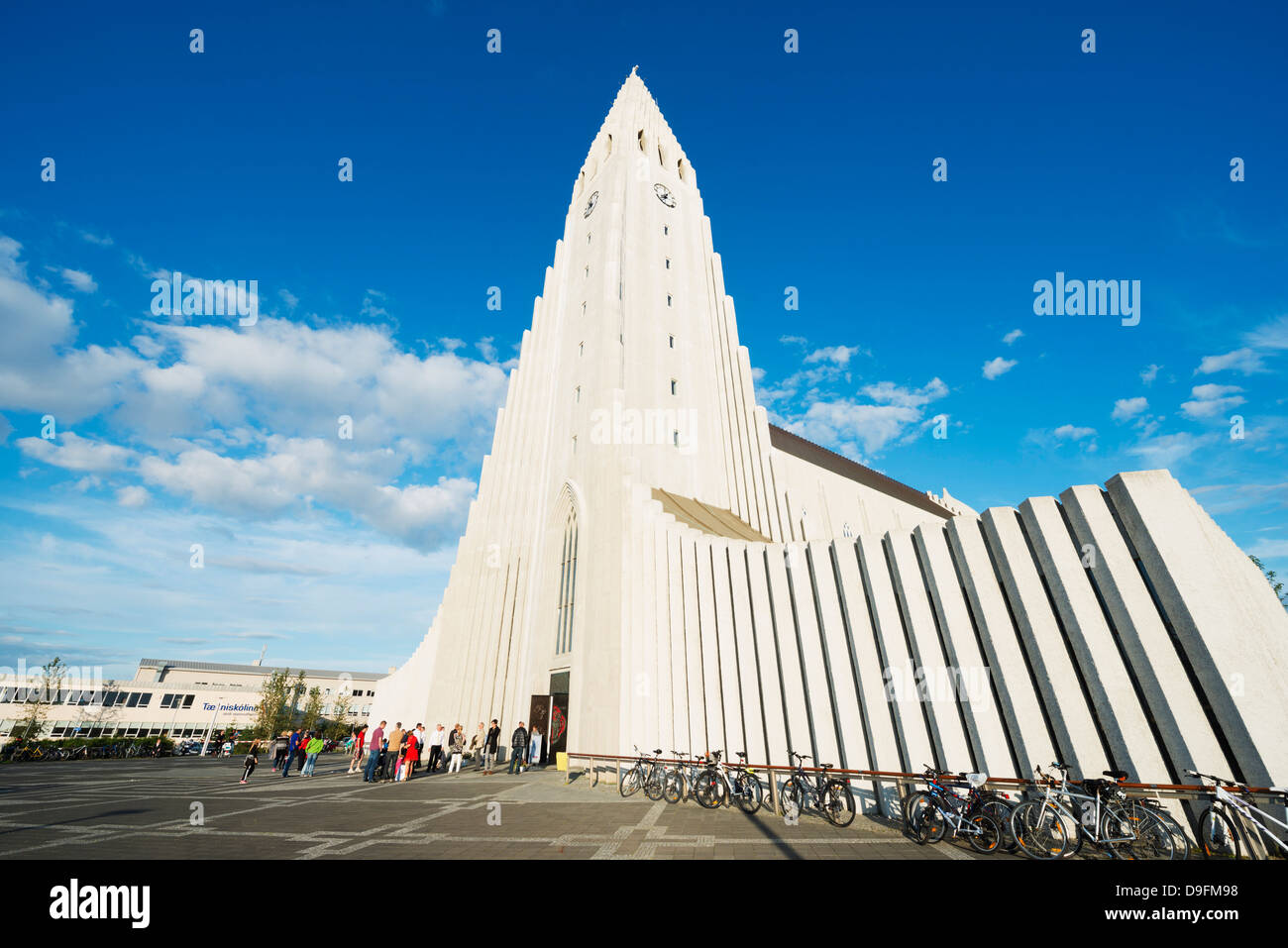 Chiesa Hallgrimskirkja, Reykjavik, Islanda, regioni polari Immagini Stock