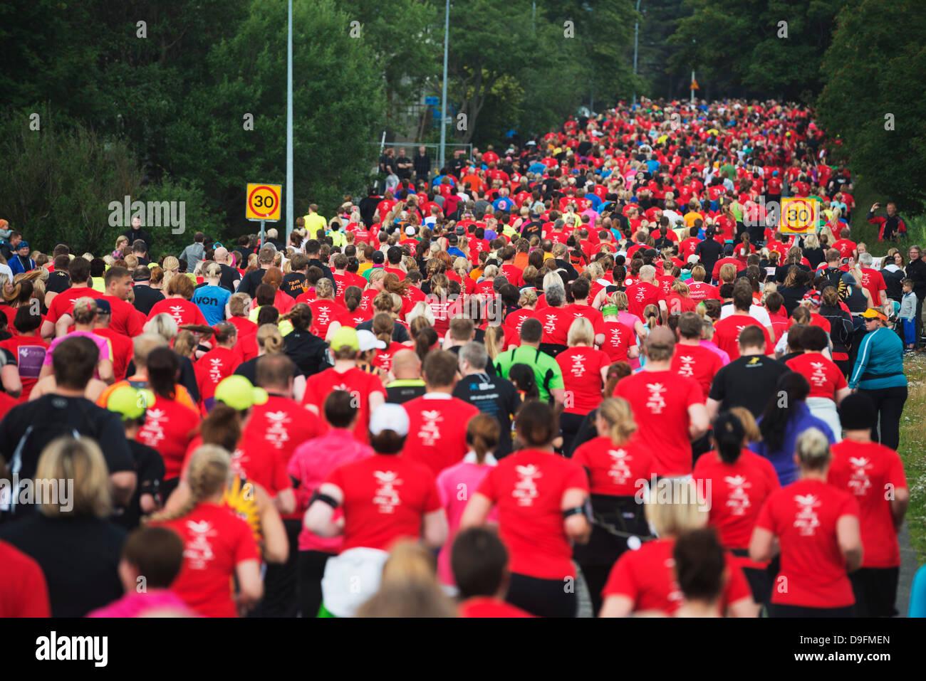 Maratona di Reykjavik 2012, Reykjavik, Islanda, regioni polari Immagini Stock