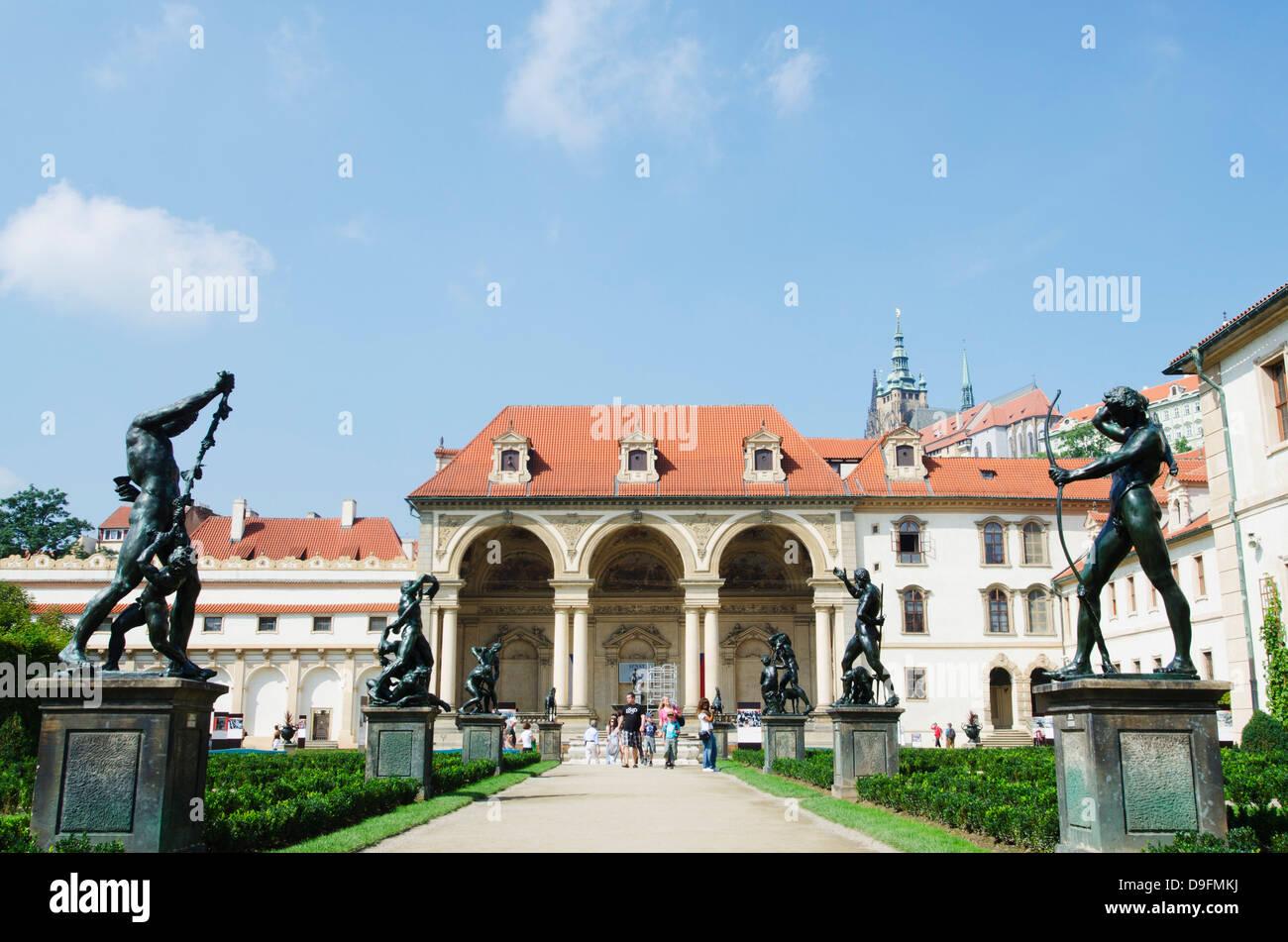 Palazzo Wallenstein, Praga, Repubblica Ceca Immagini Stock