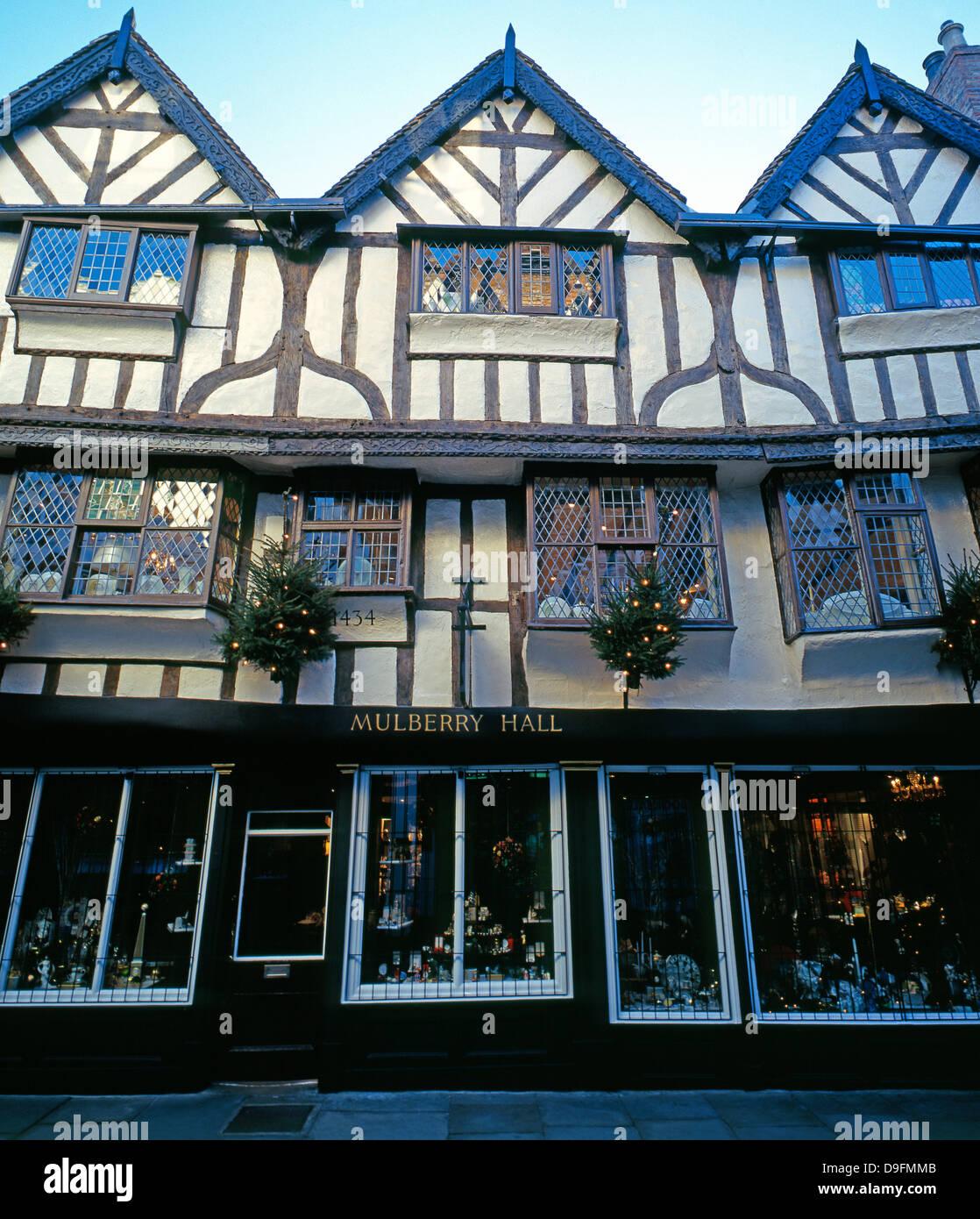 Il Mulberry Hall, ammenda cina e coffee shop, York, Inghilterra. Shot prese nel 1999. Il Mulberry Hall negozio chiuso Immagini Stock