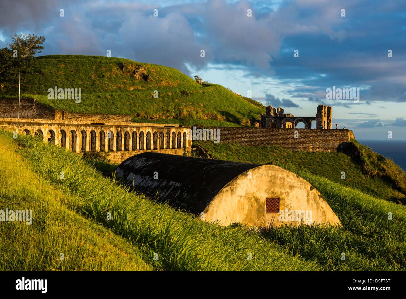Brimstone Hill Fortress, Sito Patrimonio Mondiale dell'UNESCO, Saint Kitts, Saint Kitts e Nevis, Isole Sottovento, West Indies, dei Caraibi Foto Stock