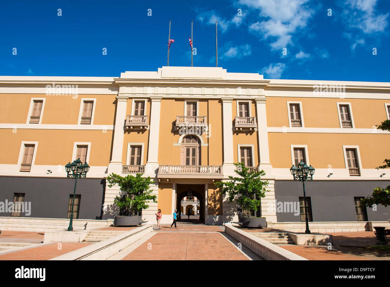 Ballaja caserma, Museo delle Americhe arte popolare, San Juan, Sito Patrimonio Mondiale dell'UNESCO, Puerto Immagini Stock