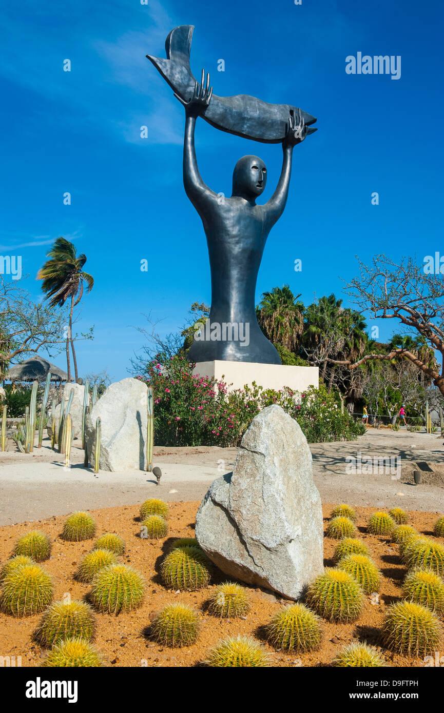Statua moderna in Puerto Los Cabos, parte di San Jose del Cabo, Baja California, Messico Immagini Stock