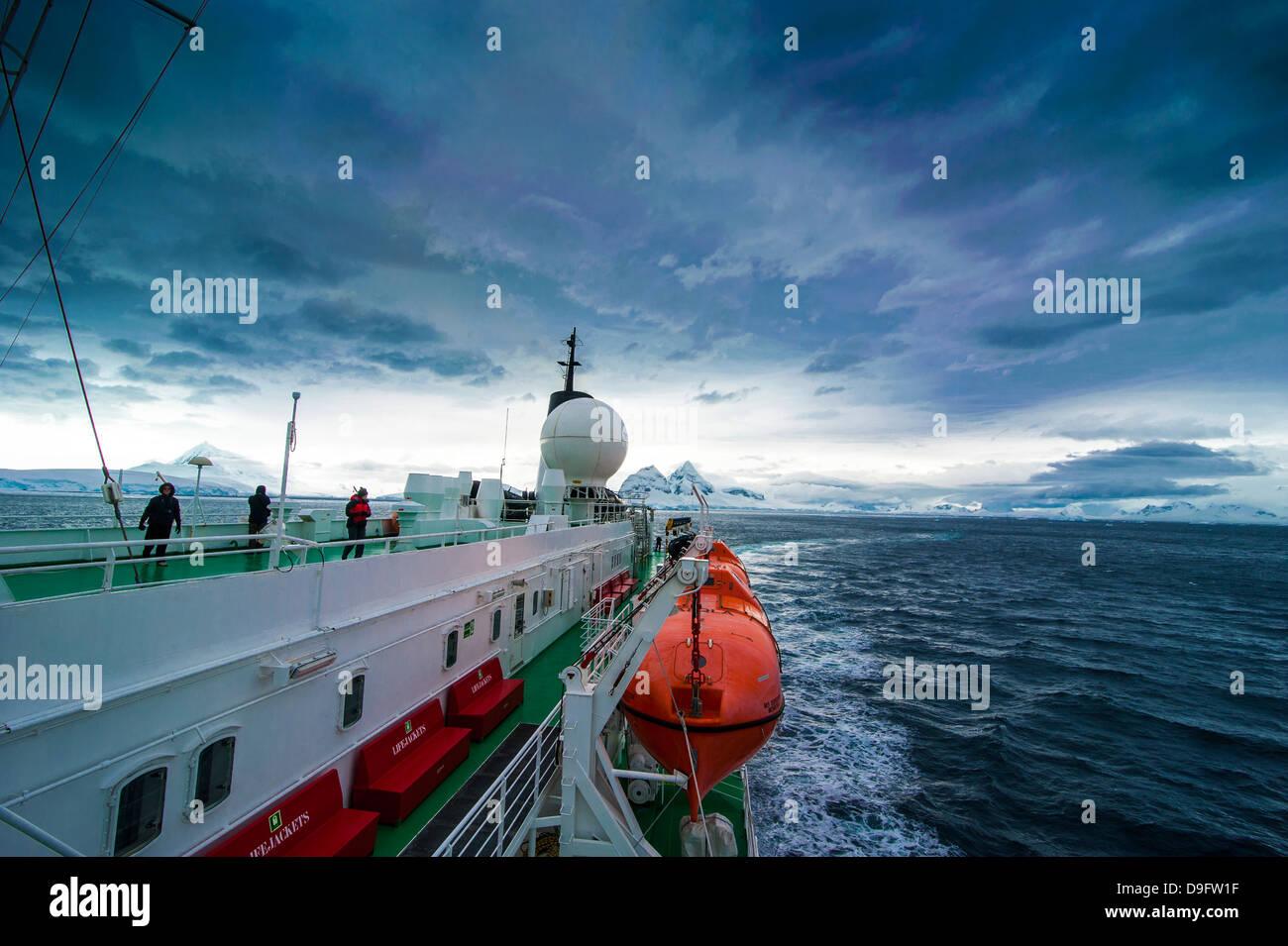 Port Lockroy stazione di ricerca, l'Antartide, regioni polari Immagini Stock