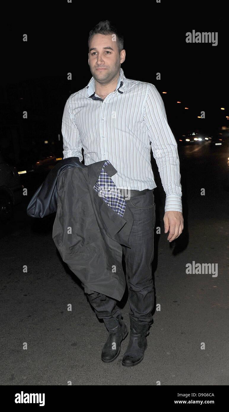 Dane Bowers appare imbarazzato per essere fotografato Television X soft e hard film per adulti e televisione Awards Immagini Stock