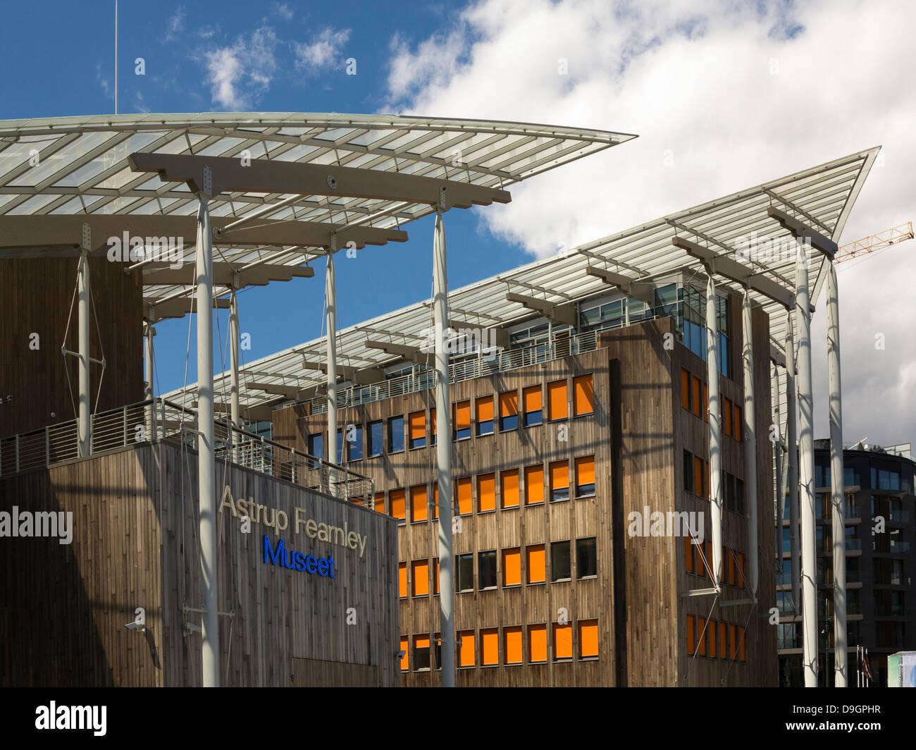 Astrup Fearnley Museet, il Museo di Arte Moderna di Oslo, Norvegia, Europa - Architettura moderna Immagini Stock
