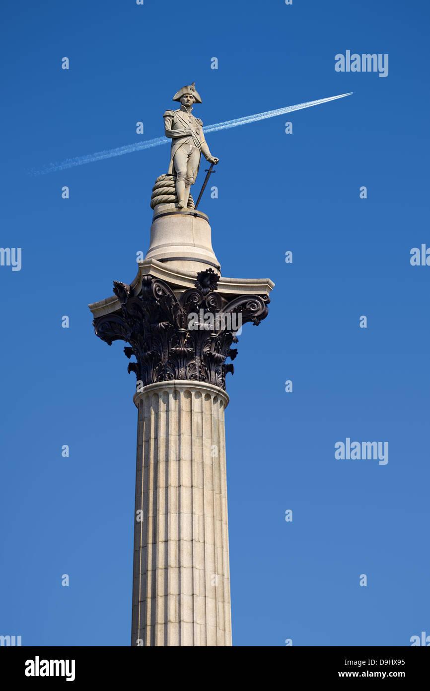 Nelsons Column, Trafalgar Square, Londra, Inghilterra, Regno Unito. Immagini Stock