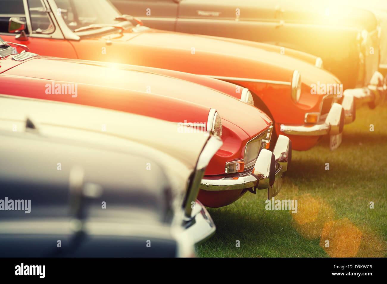 Sunshine auto classiche Immagini Stock
