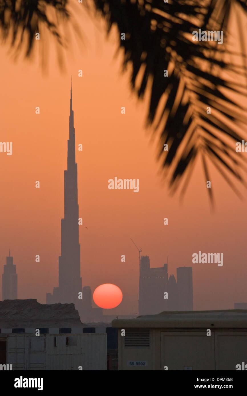 Burg Al Khalifa al tramonto Immagini Stock