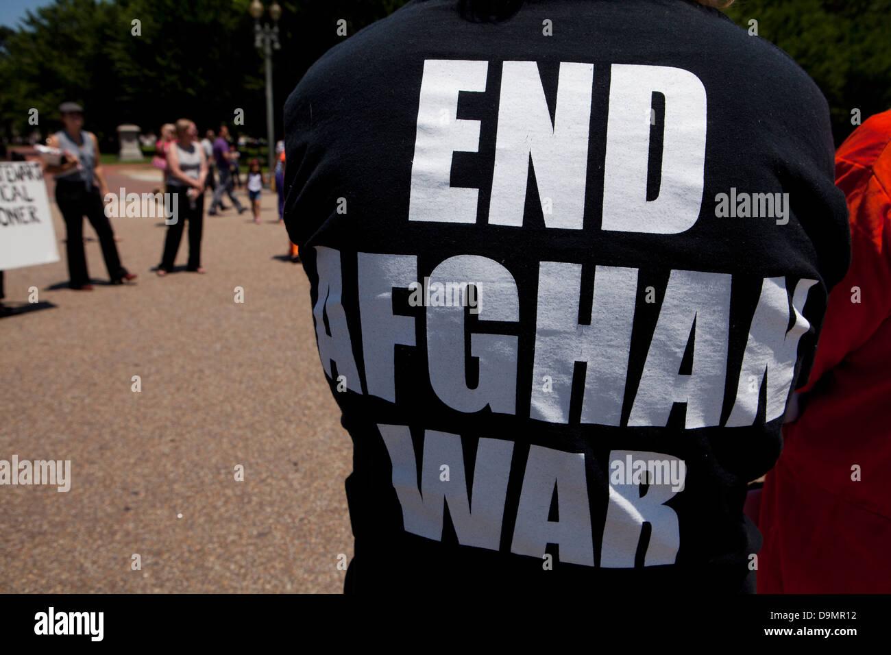 In Afghanistan la guerra protesta Immagini Stock