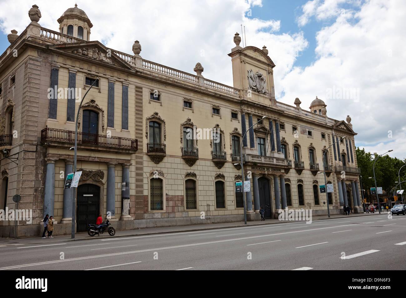 Delegacion del gobierno en Cataluña Barcellona Catalonia Spagna Foto Stock